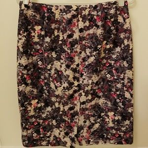 Talbots Floral Print Pencil Skirt Size 6
